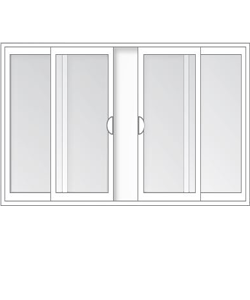 Center-Vent Sliding Window