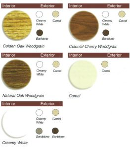 Window Features - Interior and Exterior Window Color Options