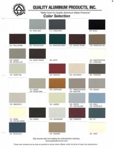 Seamless Gutter Colors